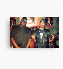biggie smalls tupac  Canvas Print