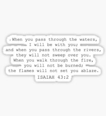 isaiah 43:2- troubled waters Sticker