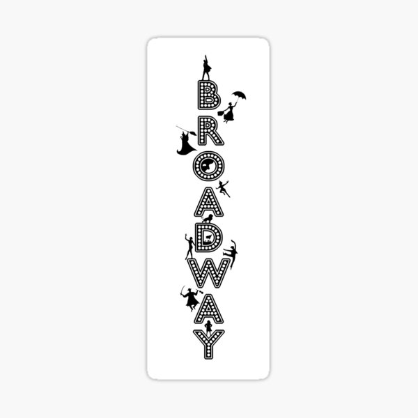 Broadway Marquee Celebration Sticker