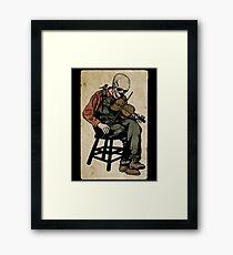 The Death Fiddler And His Sparrow Companion Framed Print