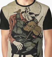 The Death Fiddler And His Sparrow Companion Graphic T-Shirt