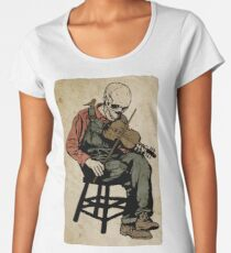 The Death Fiddler And His Sparrow Companion Women's Premium T-Shirt
