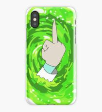 Rick and Morty Peace iPhone Case/Skin