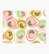 Pastel Chicks and Eggs Photographic Print