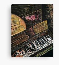 Broken Piano Canvas Print