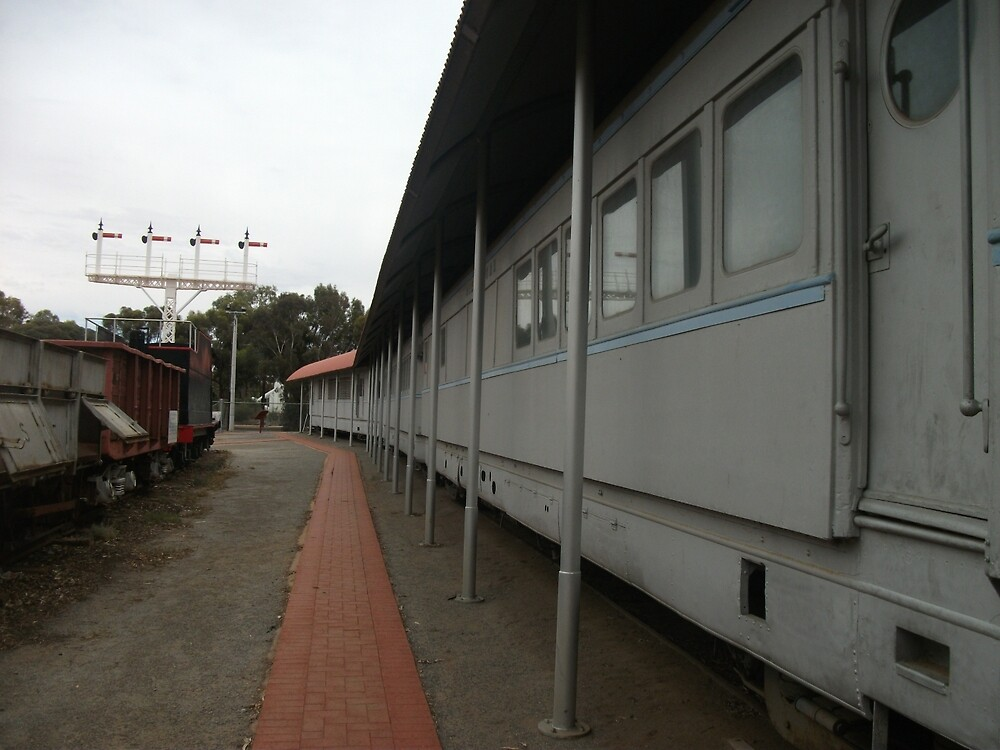 Broken Hill Sulphide St StnTrain Museum, train carriages by Heather Dart