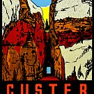 Custer State Park South Dakota Vintage Travel Decal by hilda74