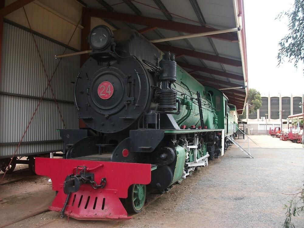Broken Hill Sulphide St StnTrain Museum, Locomotive by Heather Dart
