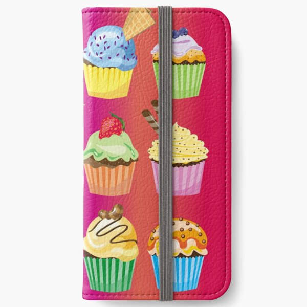 Cupcakes Galore Delicious Yummy Sugary Sweet Baked Treats iPhone Wallet