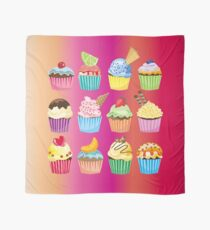 Cupcakes Galore Delicious Yummy Sugary Sweet Baked Treats Scarf