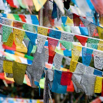 Tibetan prayer flags by clayjars