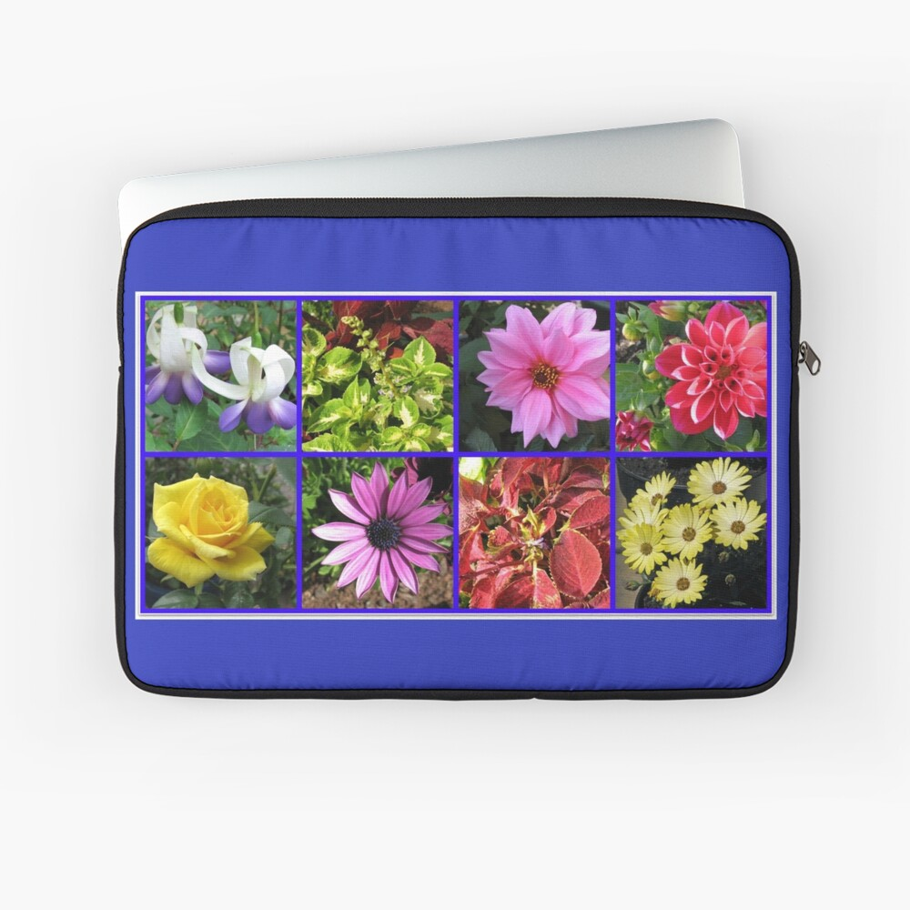 Summer Flowers and Plants Collage Laptoptasche