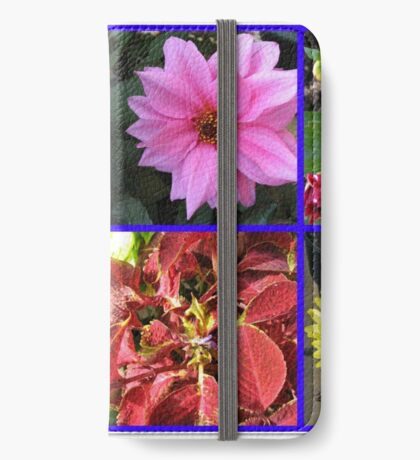 Summer Flowers and Plants Collage iPhone Flip-Case