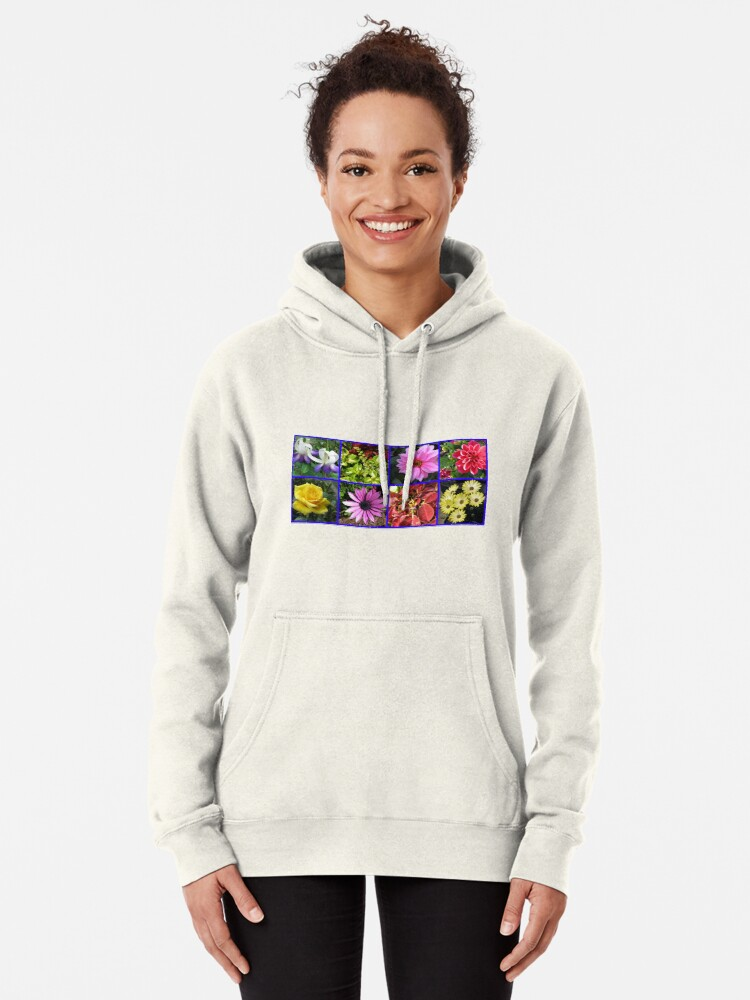Alternative Ansicht von Summer Flowers and Plants Collage Hoodie