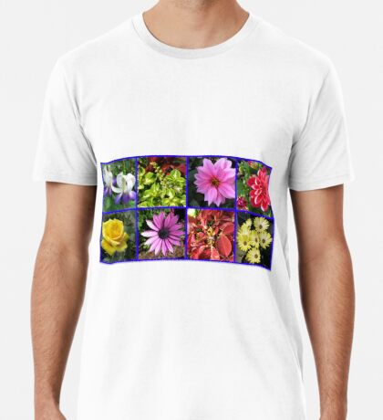 Summer Flowers and Plants Collage Premium T-Shirt