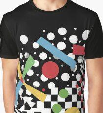 Ticker Tape Geometric Graphic T-Shirt