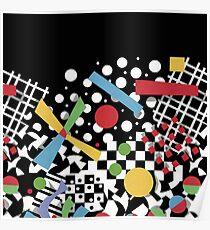 Ticker Tape Geometric Poster