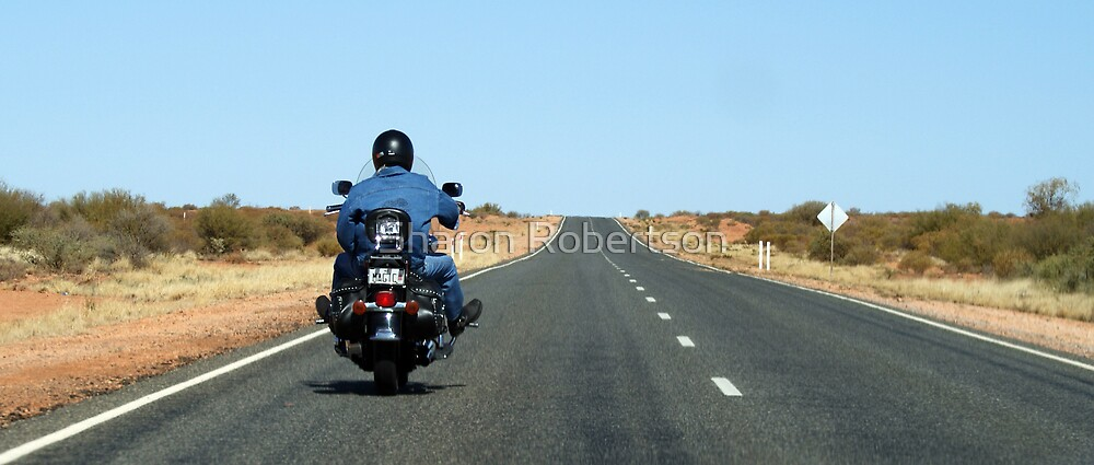 """Biker Outback Alice Springs  """"MAGIC"""" No. Plates by Sharon Robertson"""