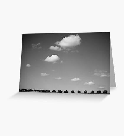 running with clouds Greeting Card