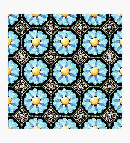 Blue Flower Boho Chic Photographic Print