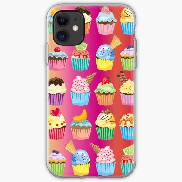 Cupcakes Galore Delicious Yummy Sugary Sweet Baked Treats iPhone Soft Case