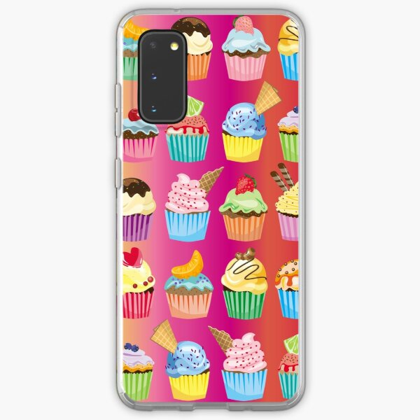 Cupcakes Galore Delicious Yummy Sugary Sweet Baked Treats Samsung Galaxy Soft Case