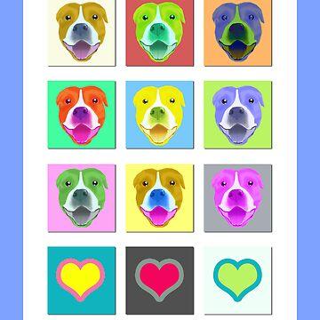 Smiling Staffy card&print v2! by lana3210