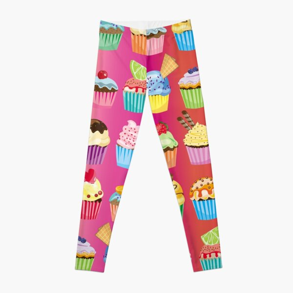 Cupcakes Galore Delicious Yummy Sugary Sweet Baked Treats Leggings