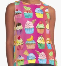 Cupcakes Galore Delicious Yummy Sugary Sweet Baked Treats Sleeveless Top