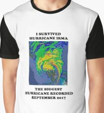 Survived Hurricane Irma September 2017 Graphic T-Shirt