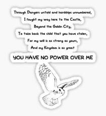 The Labyrinth - Poem Sticker