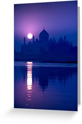 Blue Taj Mirage Prints - GREETING CARD