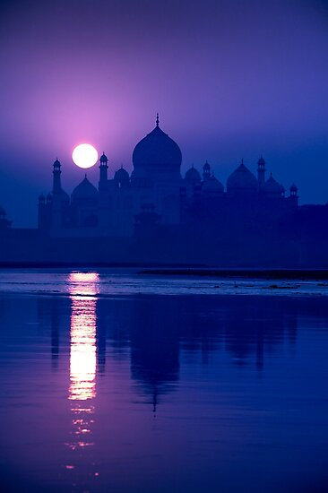 Blue Taj Mirage Prints - POSTCARD by renowned vagabond travel photographer, Glen Allison