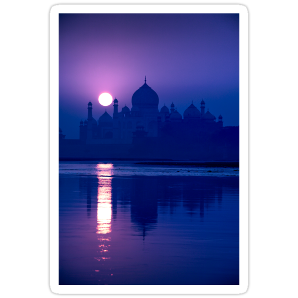 Blue Taj Mirage Prints - STICKER