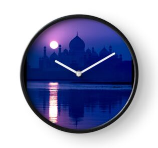 'Blue Taj Mirage' CLOCK by Glen Allison
