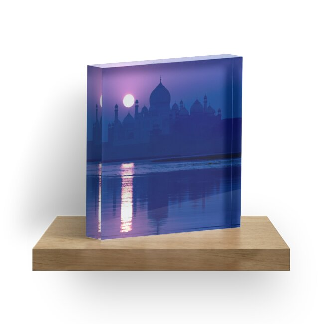 Blue Taj Mirage Prints - ACRYLIC BLOCK