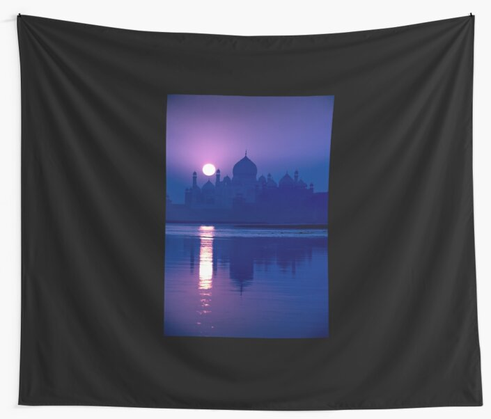 Blue Taj Mirage Prints - WALL TAPESTRy