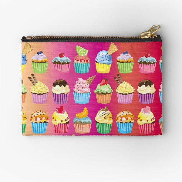Cupcakes Galore Delicious Yummy Sugary Sweet Baked Treats Zipper Pouch