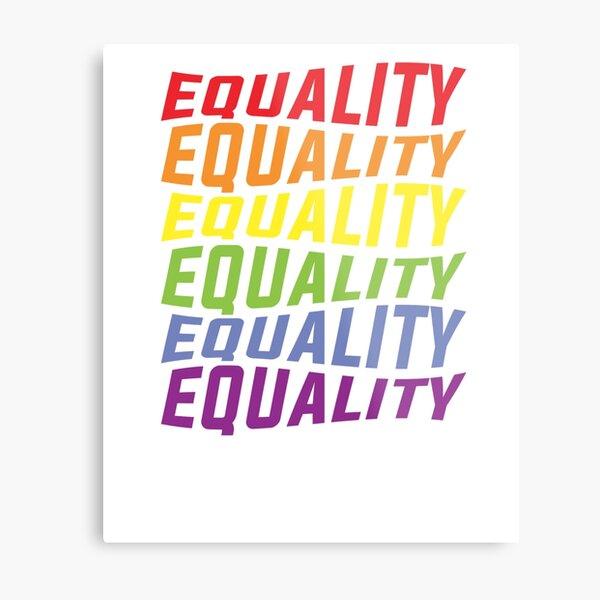 National Pride March Shirt Metal Print