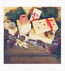 Handmade Christmas composition Photographic Print