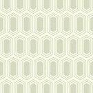 Elongated Hexagon Geometric Pattern (Fill Dark on Light Neutral Grey) by KristyKate