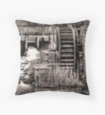 Grist Mill Water Wheel Throw Pillow