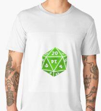 D20 Green on White Men's Premium T-Shirt