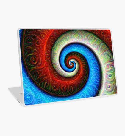 #DeepDream Color Fibonacci Visual Areas Laptop Skin