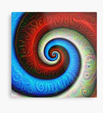#DeepDream Color Fibonacci Visual Areas Metal Print