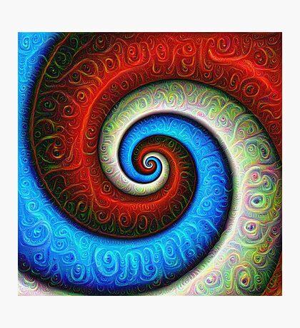 #DeepDream Color Fibonacci Visual Areas Photographic Print