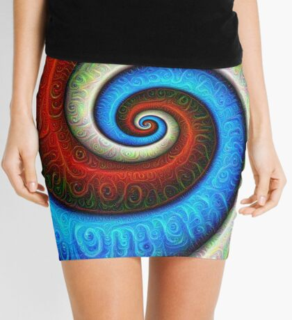 #DeepDream Color Fibonacci Visual Areas Mini Skirt