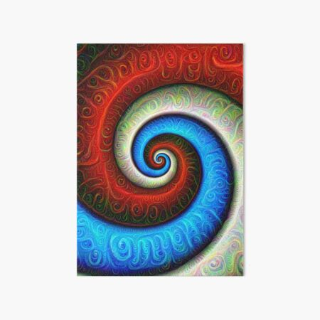 #DeepDream Color Fibonacci Visual Areas Art Board Print