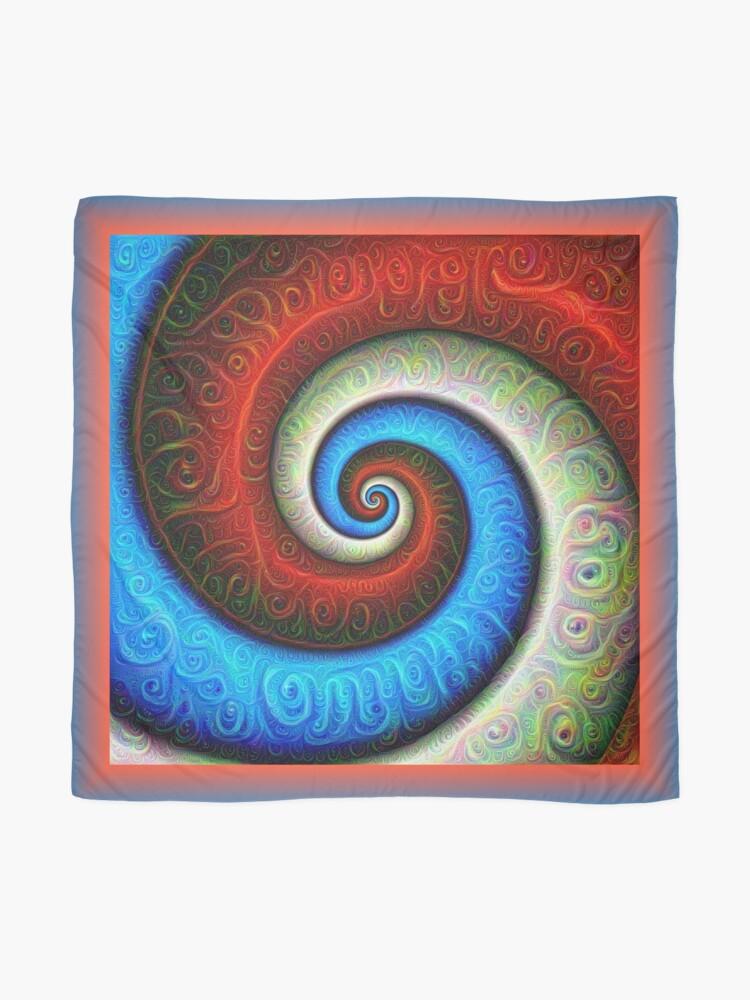 Alternate view of #DeepDream Color Fibonacci Visual Areas Scarf