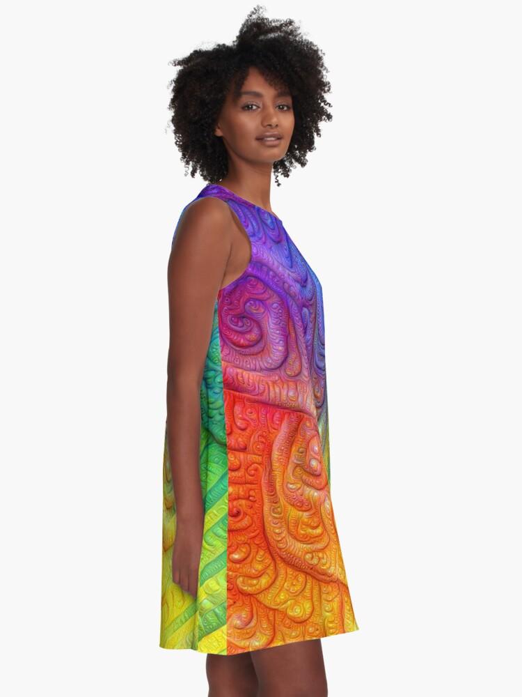 Alternate view of Color Foam #DeepDream A-Line Dress
